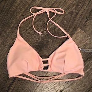 Cupshe Beautiful Blush Pink Bikini Top